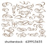 set decorative elements.brown... | Shutterstock .eps vector #639915655