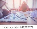stress at work   | Shutterstock . vector #639919672