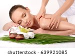 massage . body care. spa body... | Shutterstock . vector #639921085