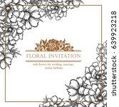 vintage delicate invitation... | Shutterstock .eps vector #639923218