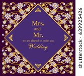 vintage invitation and wedding... | Shutterstock .eps vector #639925426