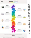 infographics design template  ... | Shutterstock .eps vector #639928906