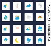 nature flat icons set....   Shutterstock .eps vector #639933442