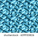 isometric  labyrinth. abstract... | Shutterstock .eps vector #639933826