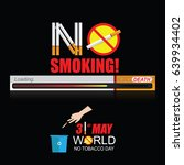 world no tobacco day may 31 | Shutterstock .eps vector #639934402