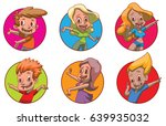 vector set of round frames with ... | Shutterstock .eps vector #639935032