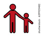 pictogram man and kid icon | Shutterstock .eps vector #639935482
