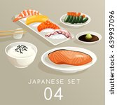 set of japanese food   vector... | Shutterstock .eps vector #639937096