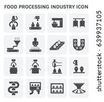 food processing industry and... | Shutterstock .eps vector #639937105