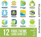 frog logo icon bundle | Shutterstock .eps vector #639939766
