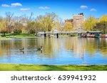 boston public gardens in early... | Shutterstock . vector #639941932
