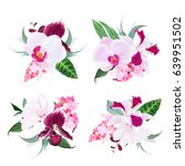 exotic tropical floral bouquets ... | Shutterstock .eps vector #639951502