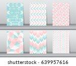 set of pattern retro style... | Shutterstock .eps vector #639957616