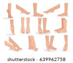 bare female leg and foot... | Shutterstock .eps vector #639962758