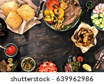 outdoors food concept. frame of ... | Shutterstock . vector #639962986