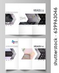 tri fold brochure business... | Shutterstock .eps vector #639963046