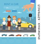 rent a car concept with... | Shutterstock .eps vector #639964615