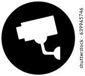 video surveillance sign black....   Shutterstock .eps vector #639965746
