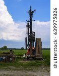 well drill on a field | Shutterstock . vector #639975826