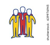 teamwork emblem icon | Shutterstock .eps vector #639976945
