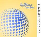 abstract halftone sphere in... | Shutterstock .eps vector #639977212