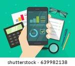 analytics data results on...   Shutterstock .eps vector #639982138