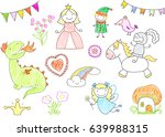 vector sketches with characters ... | Shutterstock .eps vector #639988315