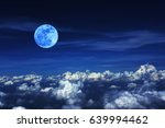 blue moon and cloud  in the... | Shutterstock . vector #639994462