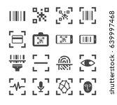 qr code scanner and bar code... | Shutterstock .eps vector #639997468