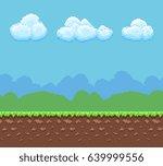 pixel 8bit game vector...