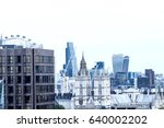 london skyline  air view. | Shutterstock . vector #640002202