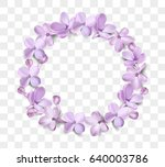 soft pastel color floral wreath ... | Shutterstock .eps vector #640003786