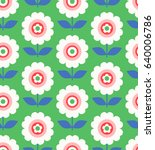 seamless pattern with flowers... | Shutterstock .eps vector #640006786