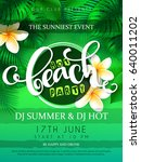 vector illustration of beach... | Shutterstock .eps vector #640011202