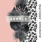 summer background  with... | Shutterstock .eps vector #640011946