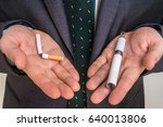 businessman offers a choice... | Shutterstock . vector #640013806