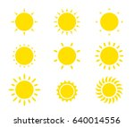 sun simple flat icon set. star... | Shutterstock .eps vector #640014556