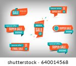 sale banner collection ... | Shutterstock .eps vector #640014568