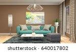 interior living room. 3d... | Shutterstock . vector #640017802
