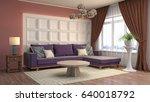 interior living room. 3d...   Shutterstock . vector #640018792