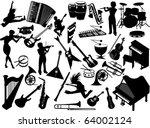 music instruments | Shutterstock .eps vector #64002124
