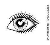 eye of a lover vector icon.... | Shutterstock .eps vector #640022386