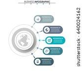 business data. process chart.... | Shutterstock .eps vector #640024162