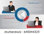 info graphics  diagram business ... | Shutterstock .eps vector #640044325