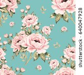 Seamless Pattern Of Bouquets Of ...