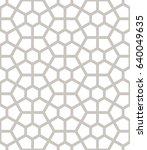 vector seamless pattern. modern ... | Shutterstock .eps vector #640049635