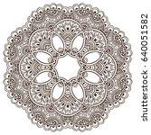 vector mandala pattern of henna ... | Shutterstock .eps vector #640051582