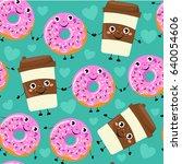 seamless pattern from cartoon... | Shutterstock .eps vector #640054606