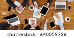 business meeting top view.... | Shutterstock . vector #640059736
