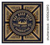 old beer label | Shutterstock .eps vector #640062892